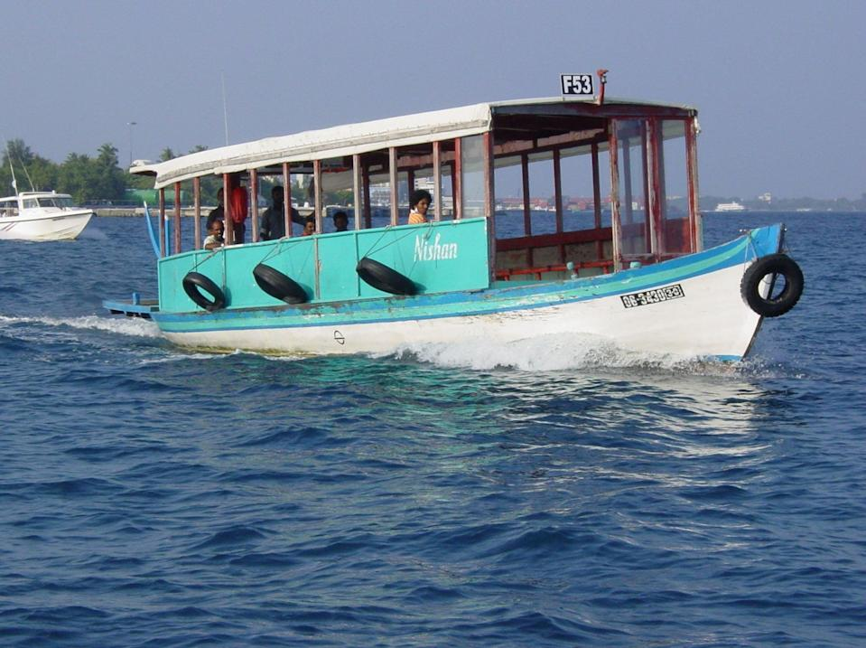 All aboard: the ferry that serves as the airport bus in the Maldives (Simon Calder)