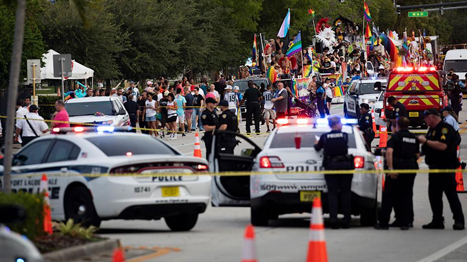 A truck drove through the crowd at The Stonewall Pride Parade and Street Festival in Florida, killing one person. Source: AP