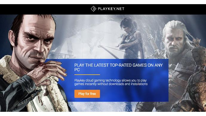 A cloud service that lets users play high-end games on any