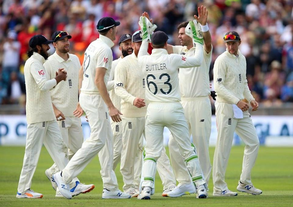 James Anderson (second right) (Nigel French/PA) (PA Wire)