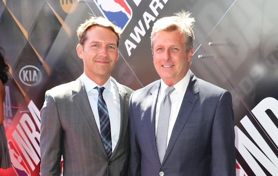 Todd Gage (left) and Rick Welts were married last week in San Francisco. (Photo: Joe Scarnici via Getty Images)