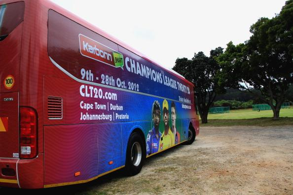 CAPE TOWN, SOUTH AFRICA - OCTOBER 15: The Yorkshire Carnegie team bus during a training session during the Champions League Twenty20, at Claremont Cricket Club on October 15, 2012 in Cape Town, South Africa. (Photo by Ashley Vlotman / Gallo Images/Getty Images)