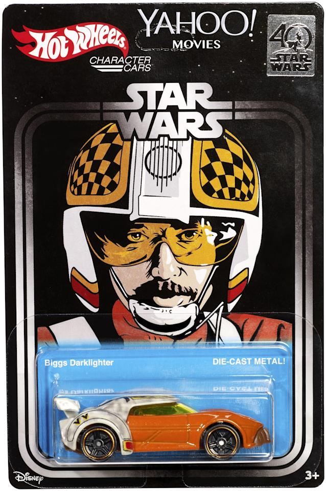 <p>This character car of the ill-fated pilot will be available to attendees of <i>Star Wars</i> Celebration. (Credit: Mattel) </p>