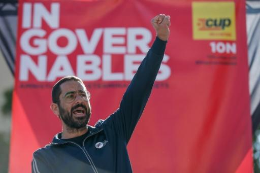 "The radical Catalan separatist CUP party is running a campaign entitled ""Ungovernable"""