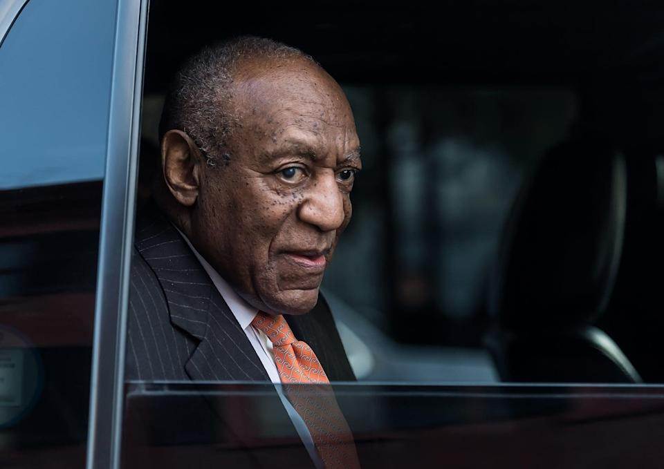 NORRISTOWN, PA - APRIL 10:  Actor/ stand-up comedian Bill Cosby leaving the Montgomery County Courthouse after the second day of his retrial for sexual assault charges on April 10, 2018 in Norristown, Pennsylvania. A former Temple University employee alleges that the entertainer drugged and molested her in 2004 at his home in suburban Philadelphia. More than 40 women have accused the 80 year old entertainer of sexual assault.  (Photo by Gilbert Carrasquillo/Getty Images)