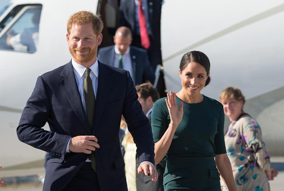 The Duke and Duchess of Sussex arriving in Dublin. [Photo: Getty]