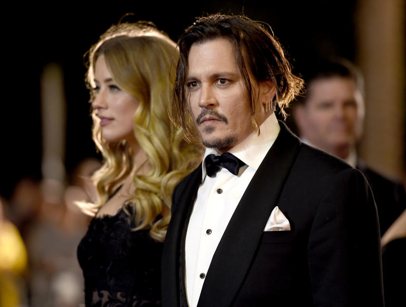 Amber Heard und Johnny Depp im Jahr 2016 auf dem internationalen Film-Festival in Palm Springs. Foto: Jordan Strauss / Invision / AP