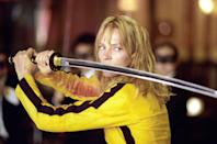 "<p>Uma Thurman's The Bride in the two <em>Kill Bill</em> movies, directed by Quentin Tarantino, might be the most cutthroat female action hero we've ever seen onscreen. Her battles with each one of her nemeses have a unique flair and show off some serious skills by everyone involved. </p> <p><a href=""https://www.hulu.com/watch/91101089-b0d6-430e-b967-b18e81b416c0"" rel=""nofollow noopener"" target=""_blank"" data-ylk=""slk:Available to stream on Hulu"" class=""link rapid-noclick-resp""><em>Available to stream on Hulu</em></a></p>"