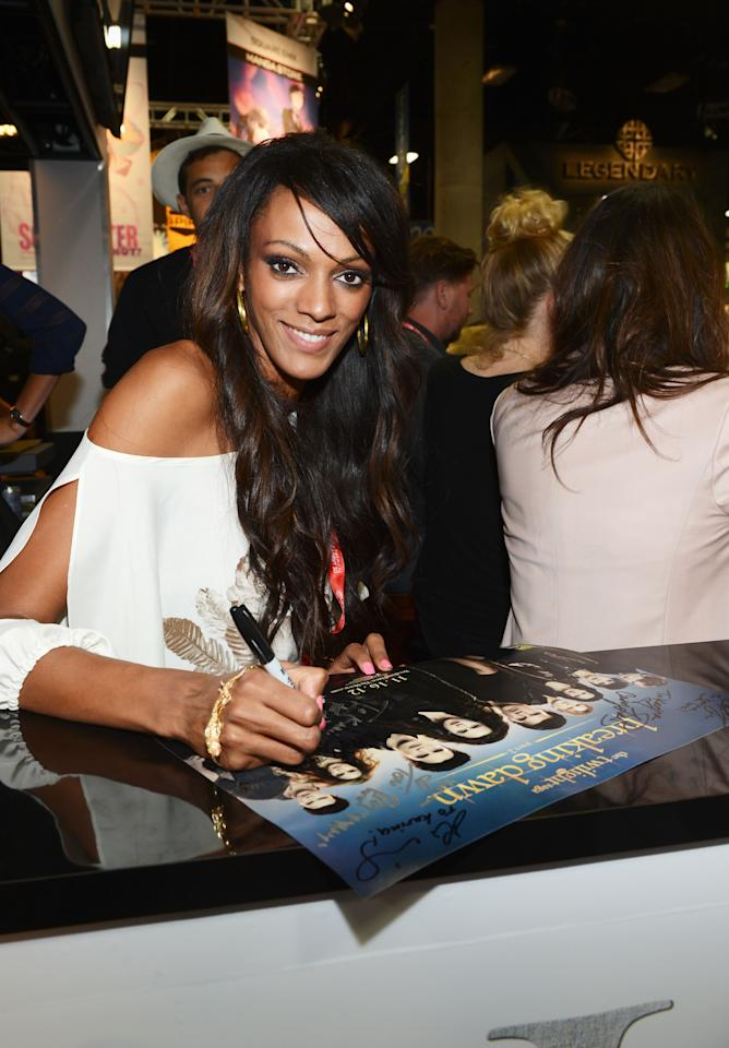 """SAN DIEGO, CA - JULY 12:  Actress Judi Shekoni attends """"The Twilight Saga: Breaking Dawn Part 2"""" during Comic-Con International 2012 at San Diego Convention Center on July 12, 2012 in San Diego, California.  (Photo by Michael Buckner/Getty Images for Lionsgate)"""