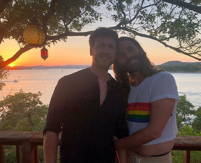 """<p>The <em>Queer Eye</em> star and husband Mark celebrated their first Valentine's Day as a married couple. And also shared a reminder to fans: """"Today if you're celebrating your friends, your partner, or maybe you're celebrating loving your DAMN FOINE SELF!! They're all valid & worth celebrating.""""</p>"""