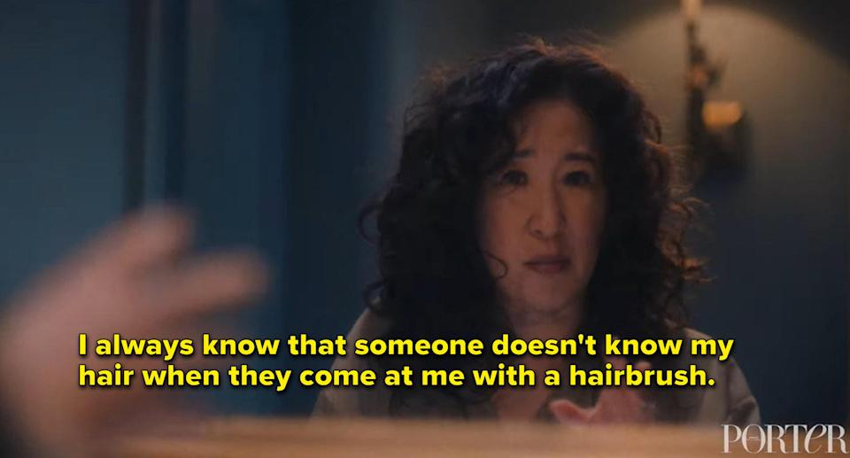 """Sandra Oh: """"I always know that someone doesn't know my hair when they come at me with a hairbrush"""""""