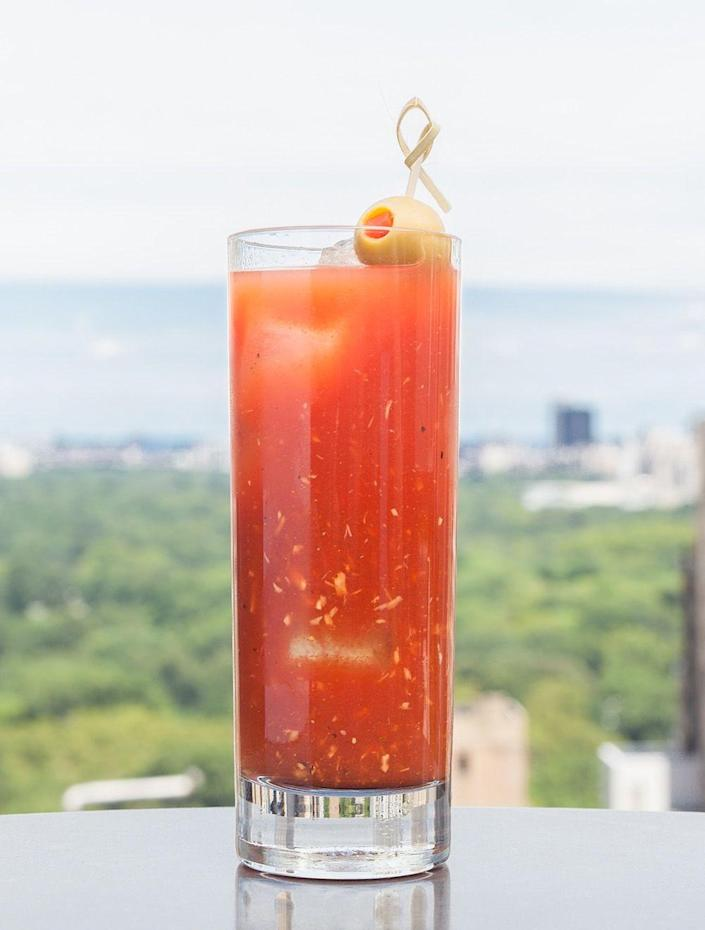 "<p>Heat up brunch with a spicy Bloody Mary. </p><p>Get the recipe from <a href=""https://www.delish.com/cooking/recipe-ideas/recipes/a43542/best-bloody-mary-recipe/"" rel=""nofollow noopener"" target=""_blank"" data-ylk=""slk:Delish"" class=""link rapid-noclick-resp"">Delish</a>.<br></p>"