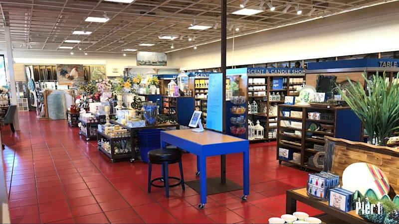 The interior of a Pier 1 Imports store