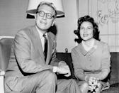 <p>In 1961, White met Allen Ludden while appearing on <em>Password,</em> the game show he hosted, as a celebrity guest. Two years later, the couple married; they were together until his death in 1981.</p> <p>Ludden was her third husband. White's first marriage to Dick Barker in 1945 lasted one year, while her second, to Lane Allen in 1947, ended in divorce two years later. </p>