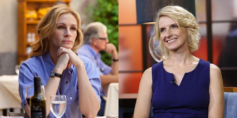 """<p>Julia Roberts plays Gilbert in the 2010 film <em>Eat Pray Love</em><span class=""""redactor-invisible-space"""">,</span> based on Gilbert's best-selling novel. It wasn't the actress' first time playing a real person (more on that, ahead). </p>"""