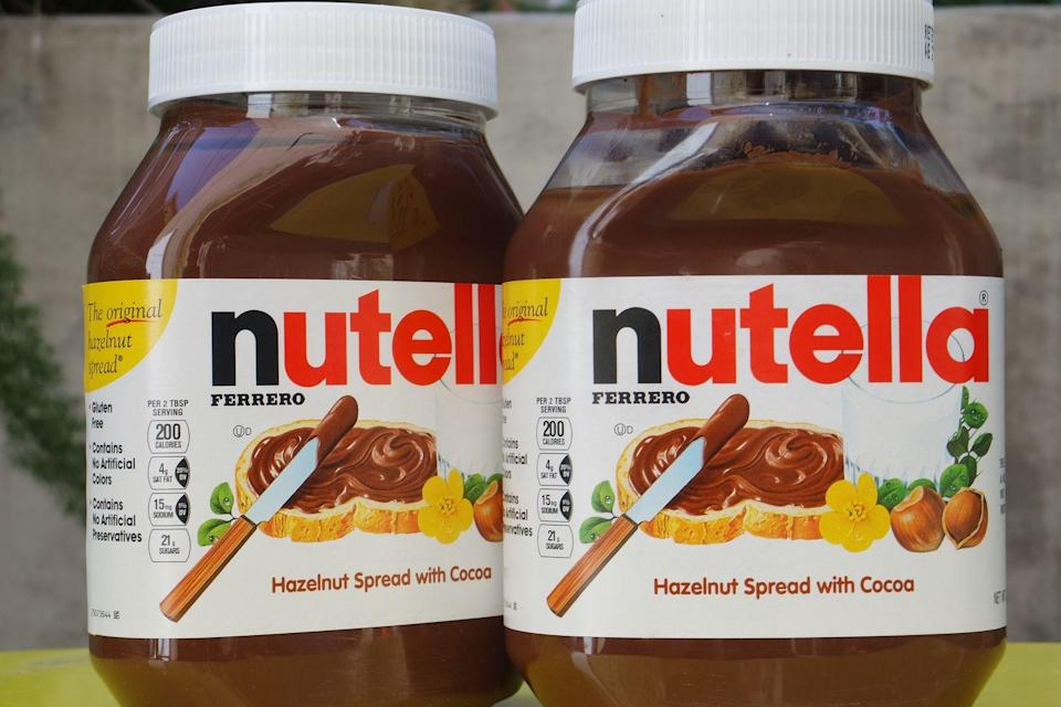 """<p>Pastry maker Pietro Ferrero created <a href=""""/food/a43722/nutella-facts-things-you-dont-know-about-nutella/"""" data-ylk=""""slk:Nutella"""" class=""""link rapid-noclick-resp"""">Nutella</a> during World War II by combining hazelnuts and chocolate to stretch his cocoa ration.</p>"""