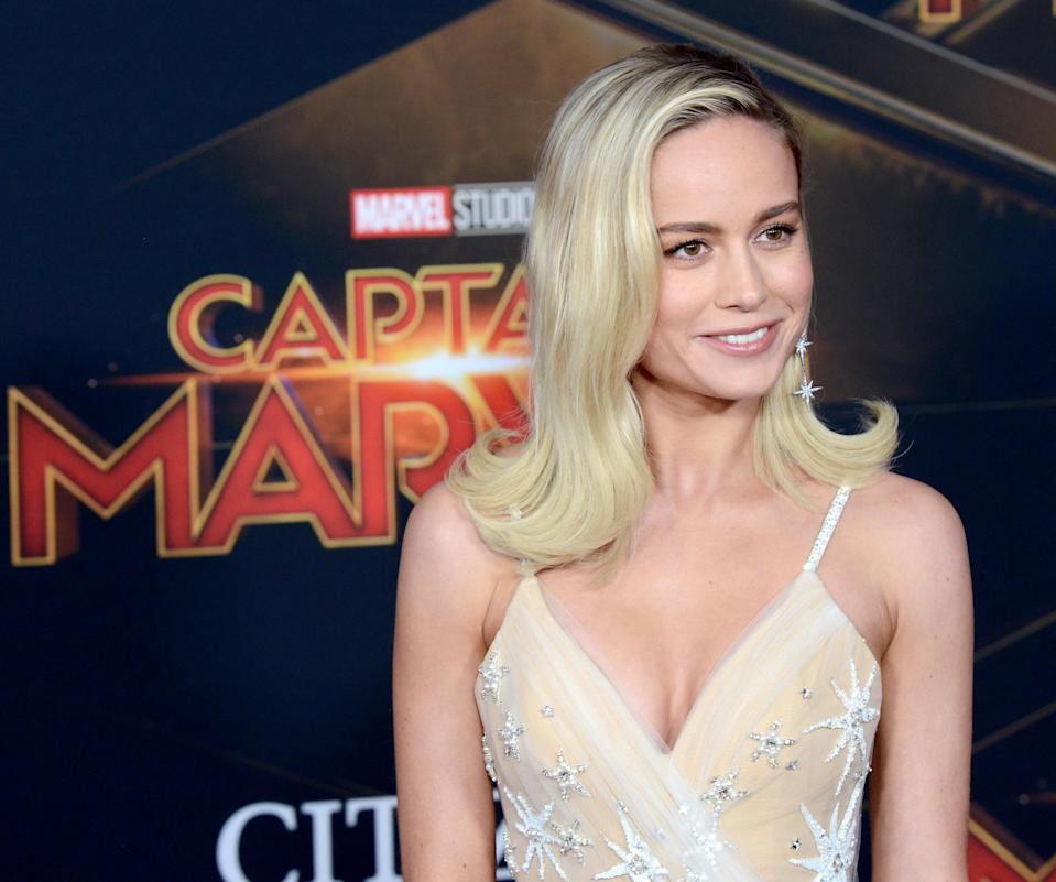 Brie Larson attends the Marvel Studios 'Captain Marvel' Premiere held on March 4, 2019 in Hollywood, California. (Photo by Albert L. Ortega/Getty Images)