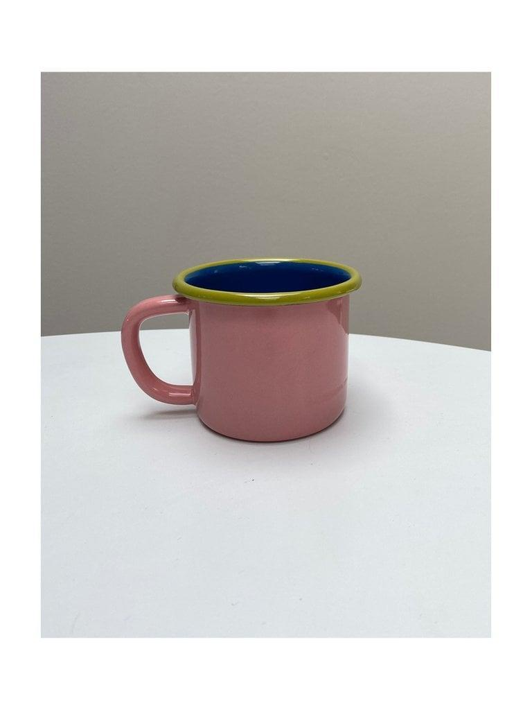<p>This <span>Bubblegum Enamelware Mug</span> ($11) will add some color to your mug assortment.</p>