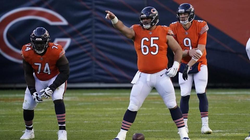 Bears C Cody Whitehair is officially out for Sunday's game due to calf injury