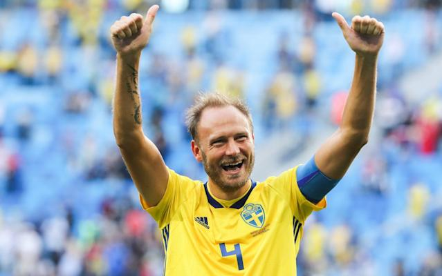 "Sweden will go into Saturday's World Cup quarter-final against England with a clear instruction from their captain ringing in their ears: stop Harry Kane. Ahead of the sides' showdown in Samara, Andreas Granqvist declared he and his team-mates would do ""everything"" possible to avoid becoming Kane's latest victims at this summer's tournament. The England captain has scored six goals from just nine shots to knock both Panama and Colombia out of Russia 2018, as well as setting Tunisia on the path to elimination. So it was no surprise to see Granqvist single out the Tottenham Hotspur star on Friday, with the defender admitting Sweden could not afford to give him a single chance. ""We know, of course, that they have Harry Kane, who is really dangerous in the penalty box,"" the 33-year-old said. ""So we need to be very strong in the box and try to make sure that they don't get the service that they need."" He added of Kane: ""He's incredibly skilled, not just at penalties, but as a striker. He's good at everything and it's going to be a very tough match against him. But we're going to do everything to stop him."" Stopping Kane could mean winning the set-piece battle between two of the tournament's best exponents of dead-ball situations, with four of his goals - including two penalties - coming from corners. Sweden's manager, Janne Andersson, said: ""Set-piece situations will be one key factor. For the first time, I feel, we meet a country who is more or less on a par with us in that respect. So that'll be a fight to get to the first ball."" Kane leads the World Cup with six goals Credit: AFP England supporters will expect nothing less than victory against a side ranked the second-worst of those teams left in the World Cup. But Gareth Southgate and his players know they face arguably their toughest test to date from a country who stunned Holland and Italy in qualifying, topped a finals group featuring Germany and Mexico, and beat sixth-ranked Switzerland in the last 16. All this despite boasting no star names since Zlatan Ibrahimovic retired two years ago. Granqvist said: ""We mightn't have, on paper, the best team, or individuals. But, as a team, we're very high achievers."" They have also proved something of an enigma for their opponents, who have not managed to crack what appears to be a straightforward 4-4-2 system. Andersson said: ""I think there was a coach who said about their team once that they're quite easy to analyse but quite difficult to beat. And I think that's a right description for us."" World Cup whatsapp promo England's recent record against Sweden is also poor to say the least but Andersson dismissed its significance out of hand given both squads had changed radically since they last met in 2012. He said: ""We're a completely different squad. So are they. So, anything that went before is not relevant."" Andersson was nevertheless thrilled to take on a country whose football he was raised on during the 1970s. ""There was only one televised match a week back in those days,"" he said, declaring himself ""a huge fan"" of the English game and specifically recalling Kenny Hibbitt's exploits for Wolverhampton Wanderers. ""I grew up with this. England was really my second nation, as it were. So that in itself is a wonderful feeling, to be faced with England now as the head coach of the Swedish team."" WorldCup - newsletter promo - end of article One of Sweden's English-based players, Sebastian Larsson, was expected to be recalled by Anderson for Saturday's game after missing their win over Switzerland through suspension. Another ban, for right-back Mikael Lustig, should mean a first start of the tournament for Emil Krafth. Albin Ekdal has been passed fit following an X-ray on a foot problem, with Anderson declaring everybody else available. That included his captain, whose wife gave birth to a second daughter back in Sweden on Friday. Granqvist said: ""I didn't sleep very much last night, so I'm glad that it's happened now. ""My wife did a wonderful job back home. Everything went well. Both baby, my daughter, and wife are doing really well."" The centre-back, who decided to remain in Russia, added: ""It's a dream for every football player to play a quarter-final in the World Cup."" Sweden (4-4-2): Olsen (Copenhagen); Krafth (Bologna), Lindelöf (Man Utd), Granqvist (Krasnodar), Augustinsson (Werder Bremen); Claesson (Krasnodar), Larsson (Hull), Ekdal (Hamburg), Forsberg (Leipzig); Berg (Al Ain), Toivonen (Toulouse)."