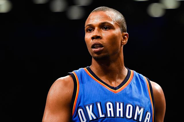 Former NBA point guard Sebastian Telfair was convicted on a firearm charge in New York on Wednesday, and is facing up to 15 years in prison. (Alex Goodlett/Getty Images)
