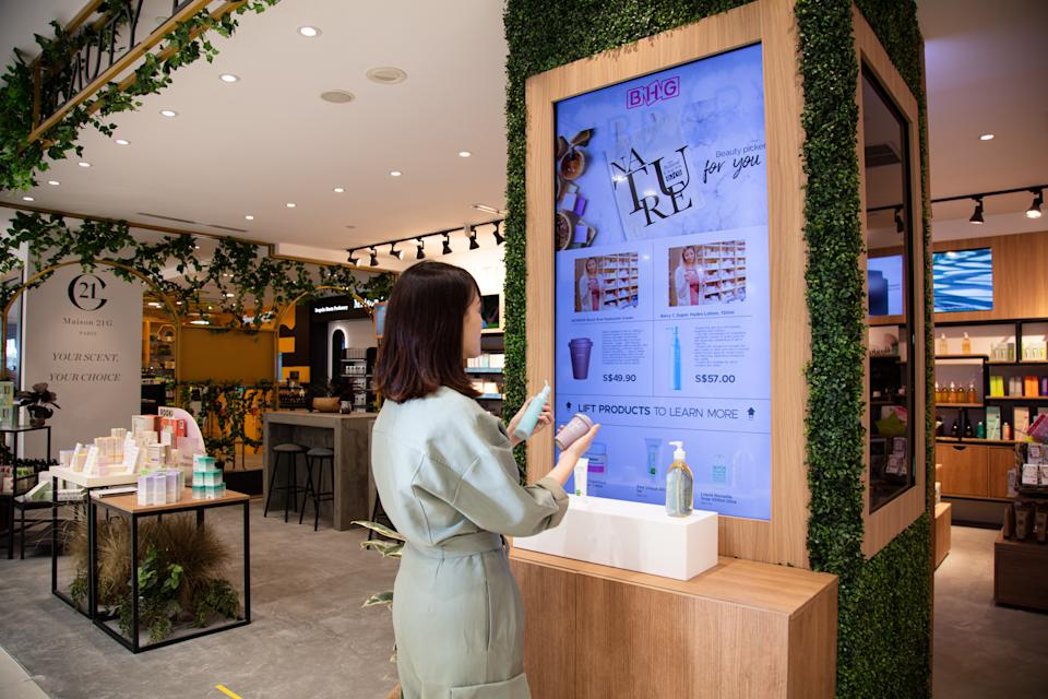 The latest retail technologies. (PHOTO: BHG Singapore)