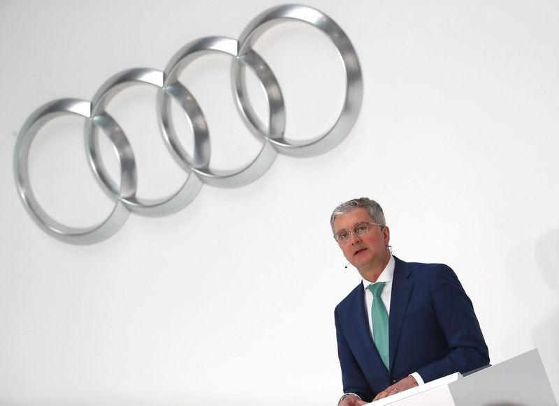 FILE PHOTO: Audi CEO Stadler speaks during the company's annual news conference in Ingolstadt