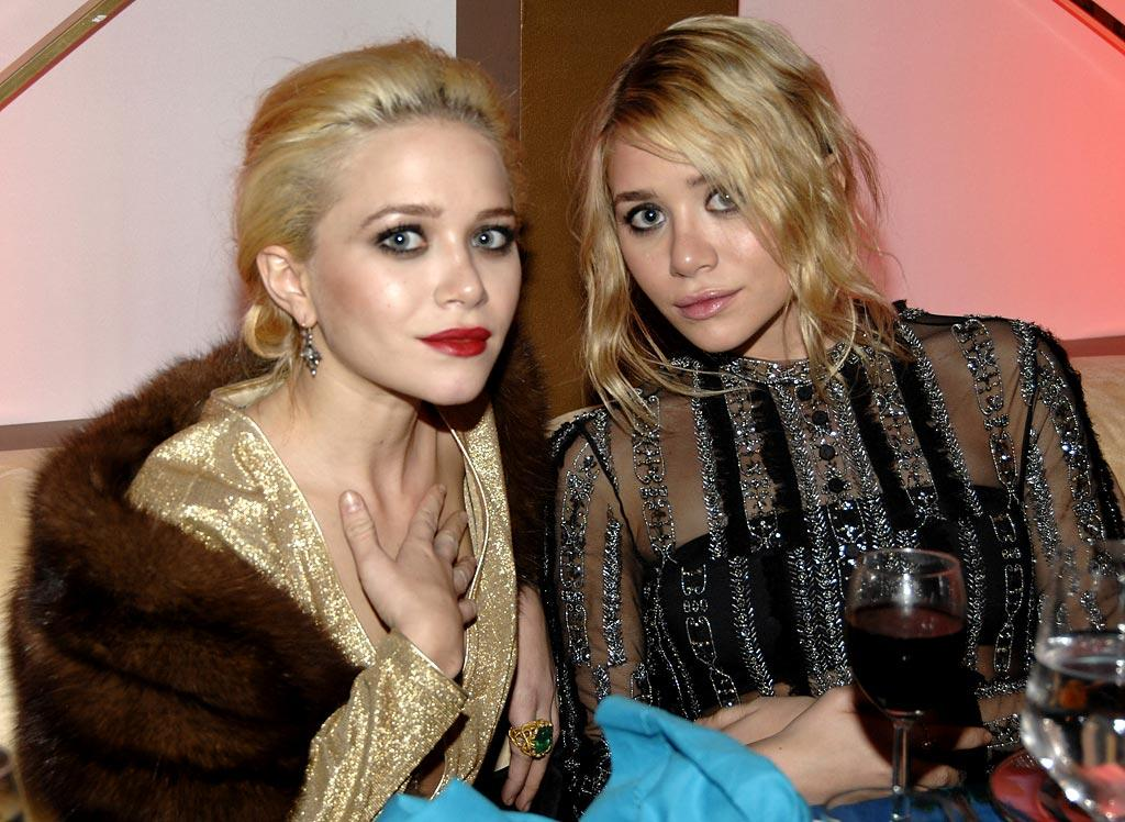 """<a href=""""/mary-kate-olsen/contributor/46663"""">Mary Kate</a> and <a href=""""/ashley-olsen/contributor/46662"""">Ashley</a> Olsen at the In Style and Warner Bros. 2007 Golden Globe After Party."""