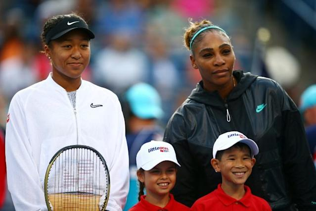 Top-seeded defending champion Naomi Osaka of Japan, left, and 23-time Grand Slam winner Serena Williams will not have umpire Carlos Ramos handle their match should they meet at the US Open as they did in last year's women's final (AFP Photo/Vaughn Ridley)