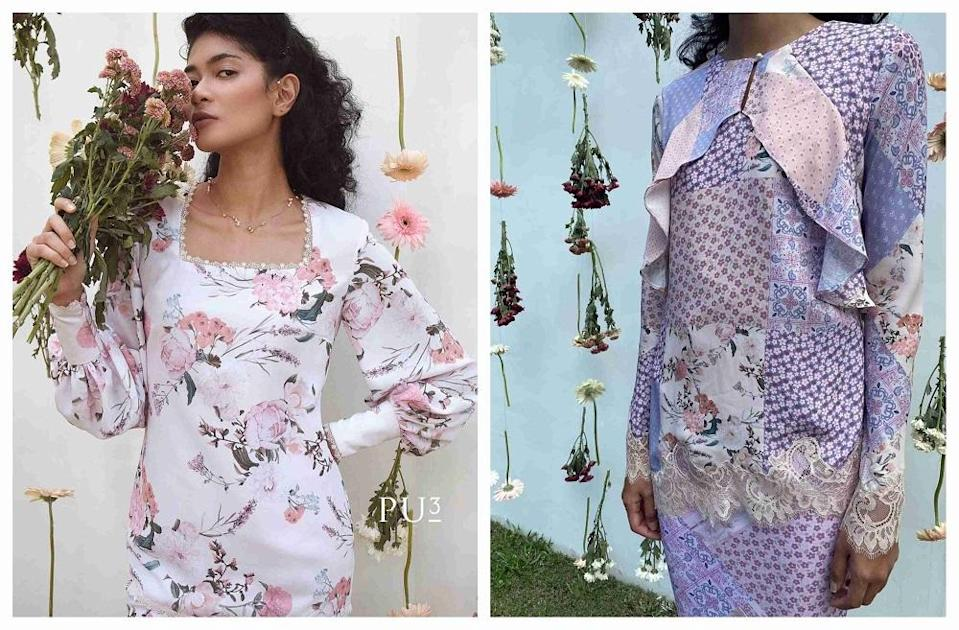Perfect for girly girls who cannot get enough of florals in their Raya wardrobe. ― Pictures via Instagram/ PU3