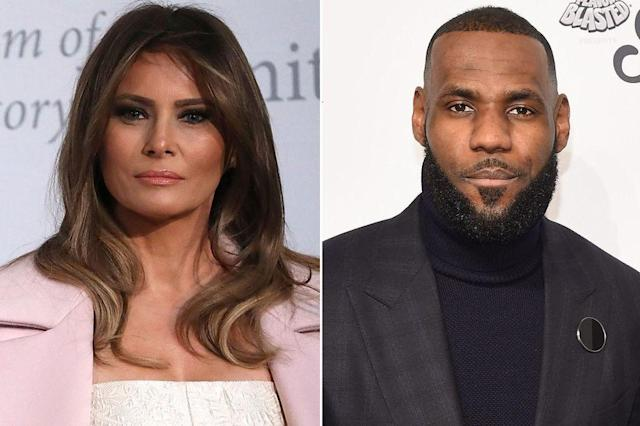 Melania Trump and LeBron James