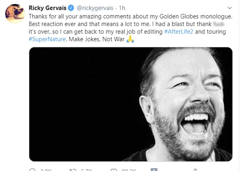 (Ricky Gervais/Twitter)