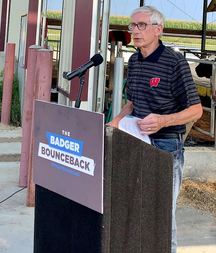 Gov. Tony Evers said Wednesday he backed local decisions to require vaccinations among school staff.