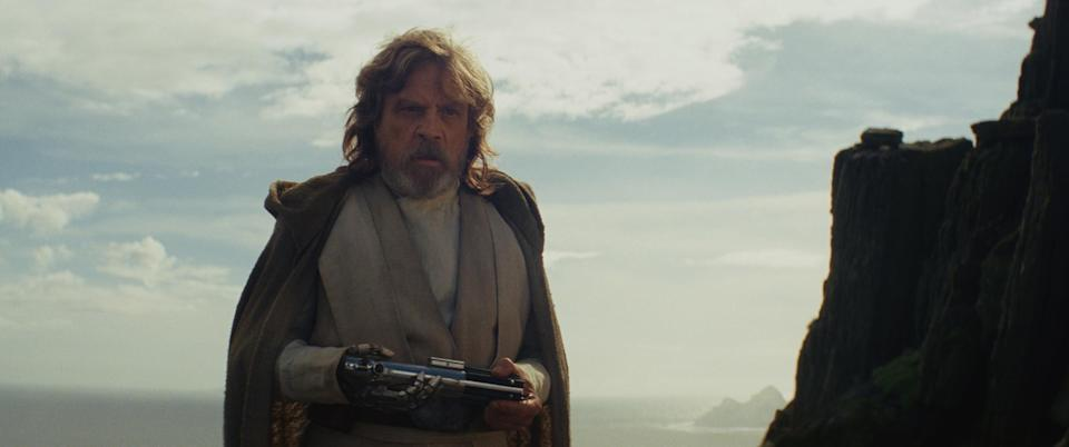 Mark Hamill as Luke Skywalker in<em> Star Wars: The Last Jedi.</em>(Photo: Disney)