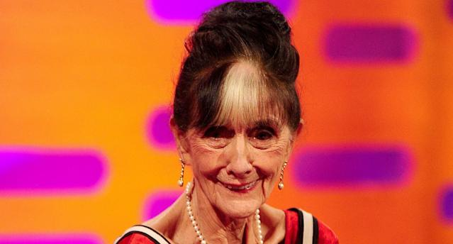 June Brown during filming for the Graham Norton Show at the London Studios, London. (Photo by Ian West/PA Images via Getty Images)