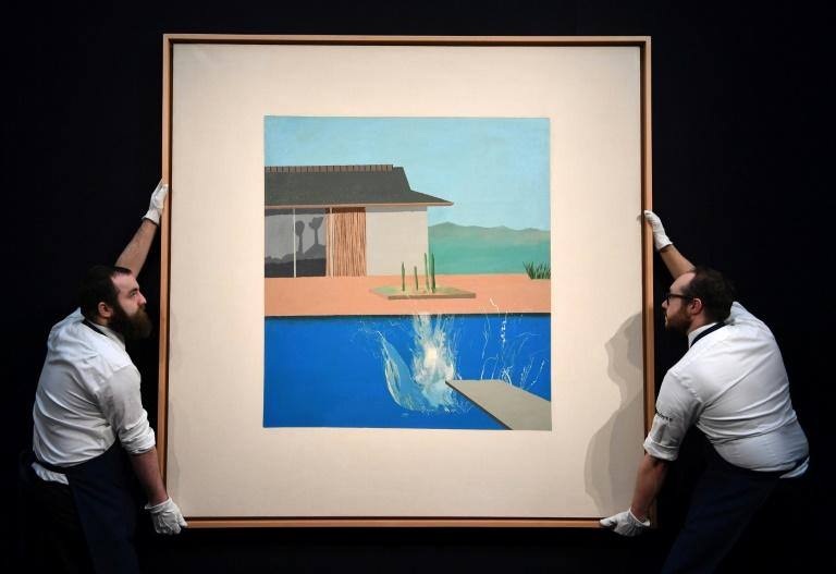 "David Hockey's ""The Splash"" was sold on Tuesday for nearly eight times what it went for at auction in 2006"