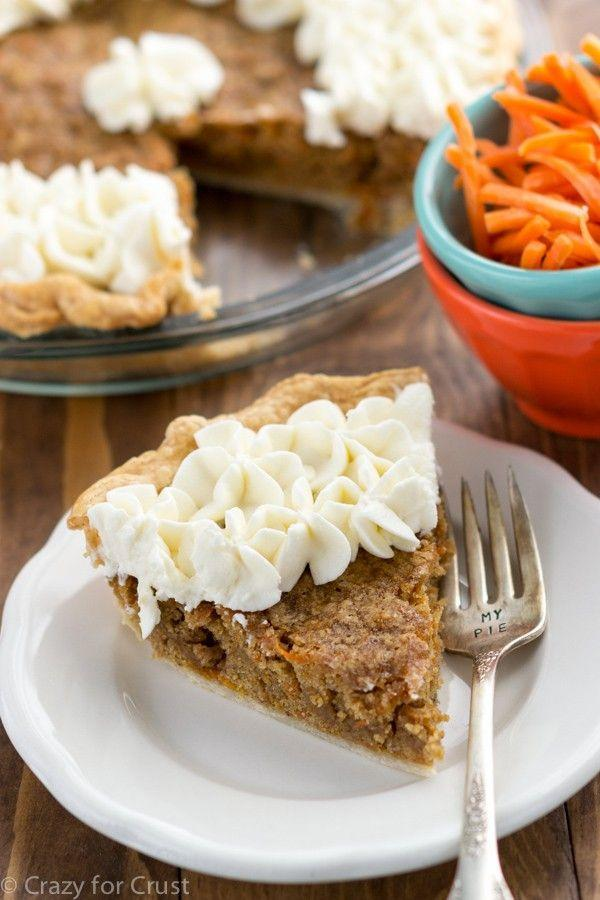 """<p>Have your cake and your pie, too.</p><p>Get the recipe from <a href=""""https://www.crazyforcrust.com/carrot-cake-pie/"""" rel=""""nofollow noopener"""" target=""""_blank"""" data-ylk=""""slk:Crazy For Crust"""" class=""""link rapid-noclick-resp"""">Crazy For Crust</a>.</p>"""