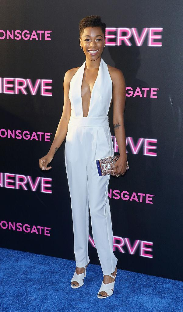 <p>How fresh is this slimming, white jumper on Samira? <i>(Photo by Jim Spellman/WireImage)</i><br></p>