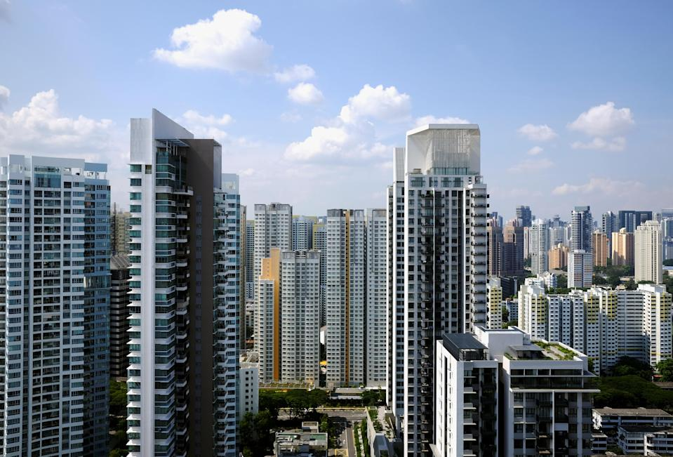 General view of apartment blocks consisting of private and public housing, in Singapore. Photo: REUTERS/Kevin Lam