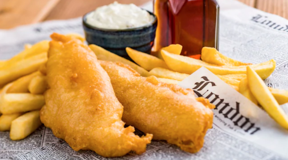 """<p>Similarly, fish and chips got really popular when Epcot opened the <a href=""""https://disneyparks.disney.go.com/blog/2016/02/a-world-showcase-of-unforgettable-shopping-at-epcot-united-kingdom-pavilion/"""" rel=""""nofollow noopener"""" target=""""_blank"""" data-ylk=""""slk:United Kingdom Pavilion"""" class=""""link rapid-noclick-resp"""">United Kingdom Pavilion</a>. </p>"""