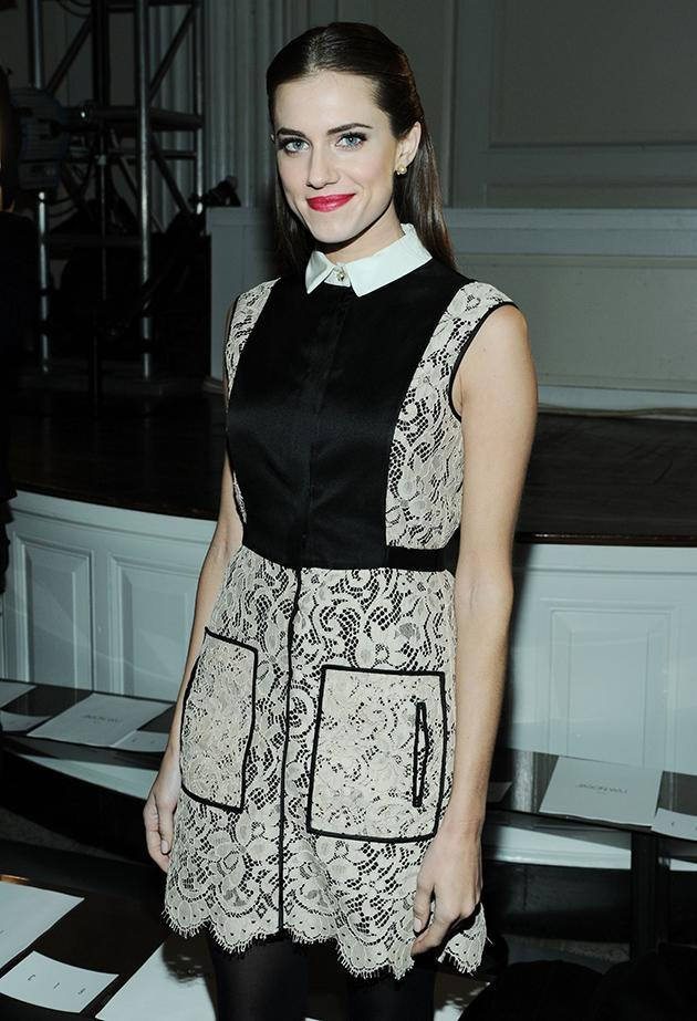 "<b>Allison Williams at Jason Wu</b><br>The ""Girls"" babe sat front row to see the designer - the man who decked First Lady Michelle Obama in red for the Inaugural Balls - in action firsthand. (2/8/13)"