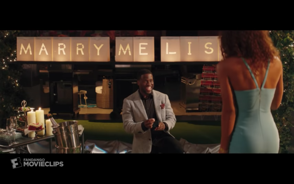 <p>Listen up, guys: Do not replicate this proposal, as it may result in a fiery disaster. Besides that hiccup, Teddy Walker's (Kevin Hart) idea for his <em>Night School </em>proposal remains sweet, just dangerous. </p>