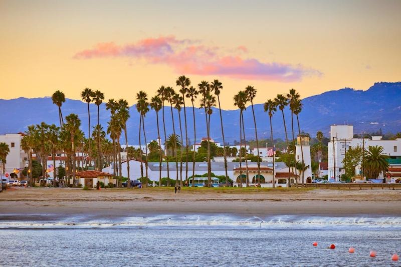 Santa Barbara's sunsets are a sight to behold: Getty Images/iStockphoto