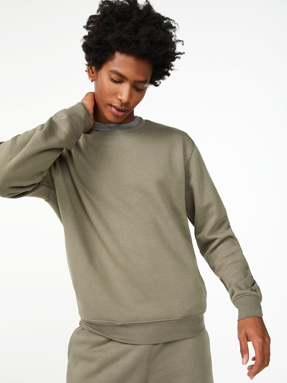 <p>Pair this <span>Free Assembly Men's Fleece Crewneck</span> ($24) with the matching <span>Free Assembly Men's Fleece Cargo Joggers</span> ($24) if you want to gift him a complete outfit to wear all winter long. </p>