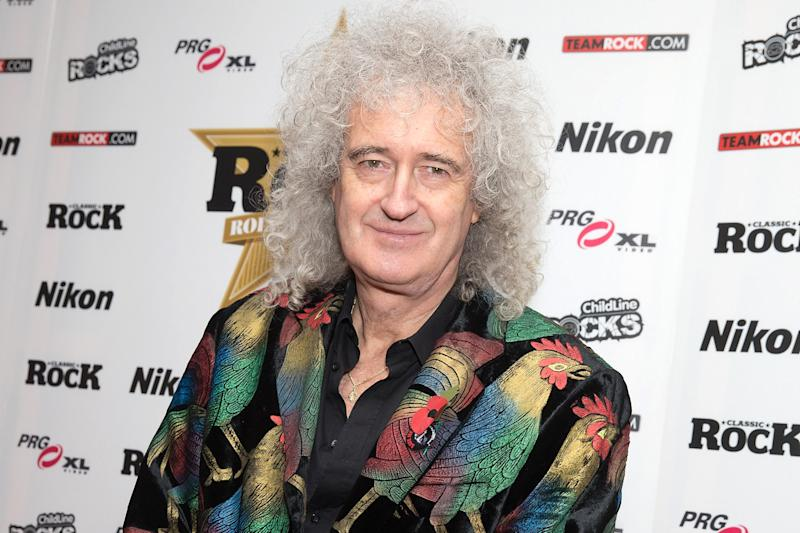 Unimpressed: Brian May posted a lengthy rant: Jo Hale/Getty Images
