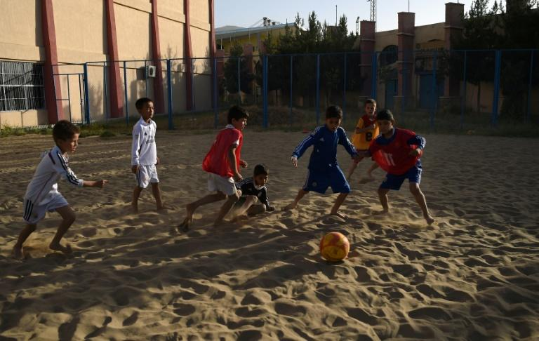 Kabul's Ghazi stadium was the scene of gruesome executions under Taliban rule, but today it is where Afghan youths, the majority of whom have never seen the sea, dream of representing their landlocked country at beach football
