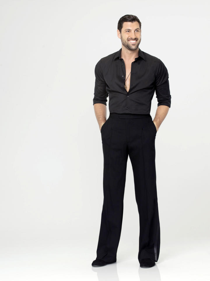 """Maksim Chmerkovskiy, who returns for his 12th season, competes on Season 14 of """"<a href=""""http://tv.yahoo.com/dancing-with-the-stars/show/38356"""">Dancing With the Stars</a>."""""""