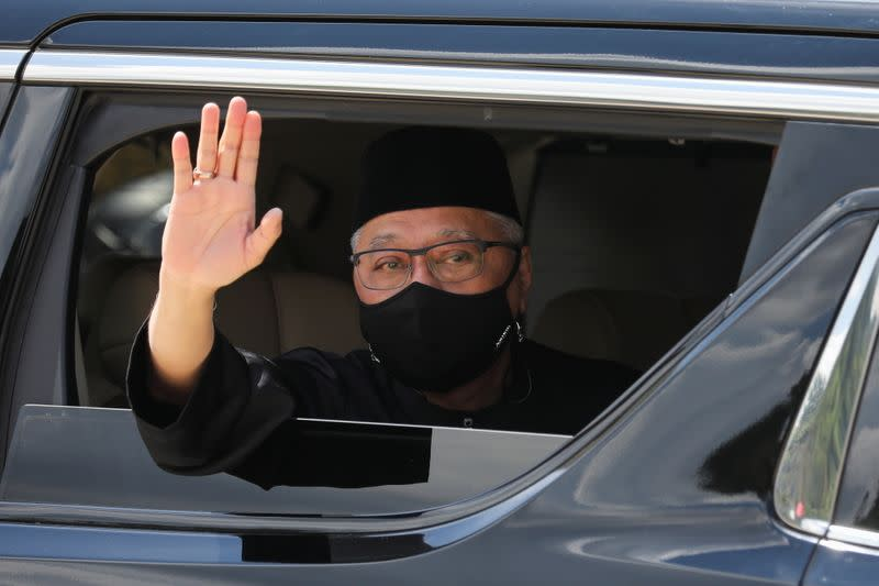 New Malaysian PM Ismail Sabri Yaakob leaves after the inauguration ceremony, in Kuala Lumpur