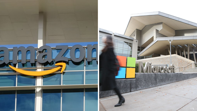 How much do Amazon and Microsoft employees earn? Source: Getty