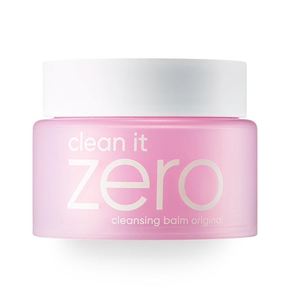 """<h3>Banila Co. Clean It Zero Original Cleansing Balm</h3><br><strong>Carrie</strong><br><br>""""This balm is super gentle and effective in getting my makeup off! Seriously, even waterproof mascara. I love that it's a more sustainable option than using makeup wipes, too.""""<br><br><strong>Banila Co</strong> Clean It Zero Original Cleansing Balm, $, available at <a href=""""https://amzn.to/3ecJzvf"""" rel=""""nofollow noopener"""" target=""""_blank"""" data-ylk=""""slk:Amazon"""" class=""""link rapid-noclick-resp"""">Amazon</a>"""